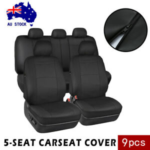 9PCS-Car-Seat-Covers-Full-Seat-Set-Leather-Universal-Front-Rear-Headrest-Cover-M