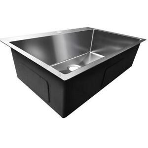 33 X 22 X 9 Single Basin 16 Gauge Stainless Steel Top Mount Kitchen Sink Hot Ebay