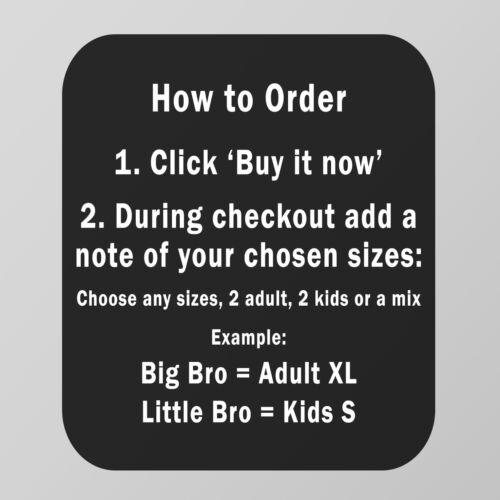 SUPER Bro /& Sidekick-SUPER EROE magliette coordinate Set-Tutte le Taglie 1 anni
