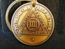 AA SOBRIETY MEDALLION IN THE SPIRIT OF LOVE RECOVERY CHIP BRONZE