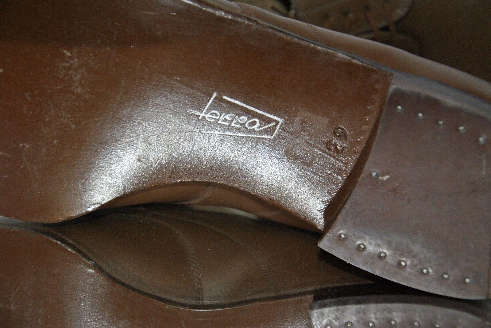 Terra TRUE Herrenschuhe 50s Leder Schuh TRUE Terra VINTAGE Oxfords Budapester W.Germany 600b0e