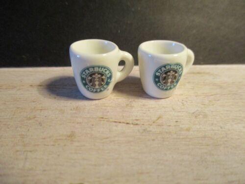 2 casa de muñecas en miniatura de Starbucks Coffee Mugs