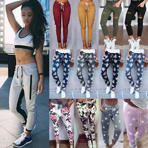 Womens-Casual-Sweatpants-Jogger-Dance-Harem-Pants-Sports-Baggy-Slacks-Trousers