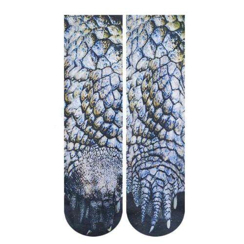 Sock Adult Elastic Animal Paw Feet Crew Funny Print 3D Foot Socks Pair Unisex US