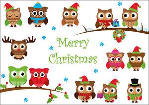 Biglietti Di Natale Divertenti.Gufi Di Natale Divertenti Cartoline Di Natale In Set 5 10 15 20 30