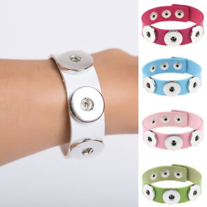 New-1PC-Jewelry-Snap-Button-Leather-Three-Buttons-Bracelet-Fashion-Gift