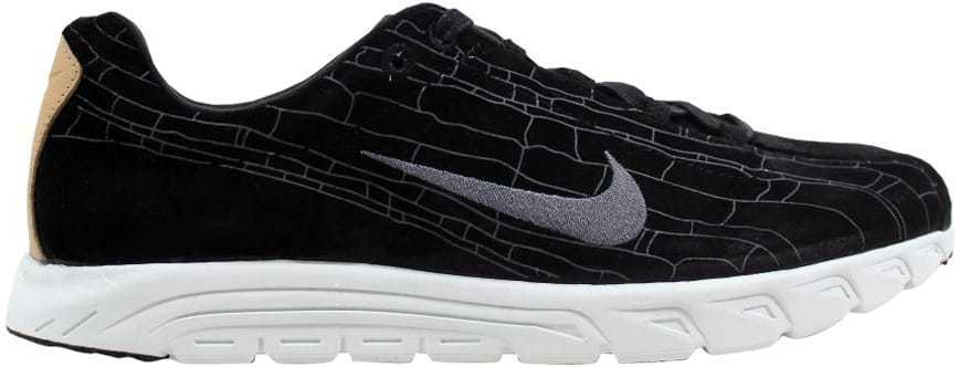 Nike Mayfly Leather Premium Black Black-Dark Grey-Linen 816548-003 Men's SZ 8
