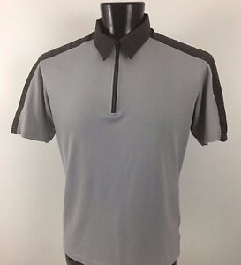 Mountain-HARDWEAR-Gray-1-4-Zip-Front-Shirt-Men-039-s-Polyester-Large-L