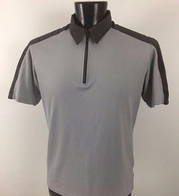 Mountain HARDWEAR Gray 1/4 Zip Front Shirt Men's Polyester - Large L