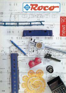 Roco-Modelleisenbahnen-Prospekt-1990-Modellbahn-brochure-model-railway-catalog