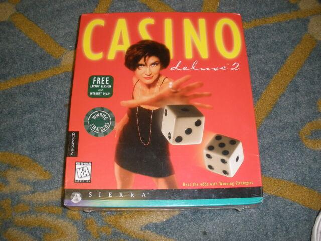 NEW - Casino Deluxe 2 Jewel Case (Computer PC Game, Sierra 1999)