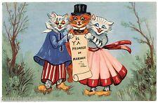 """CHATS HUMANISéS. DRESSED CATS. KATZE. """" IL Y A PROMESSE DE MARIAGE"""""""