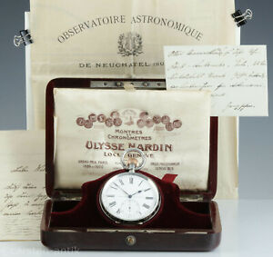 Ulysse-Nardin-Observatoriums-Chronometer-Jugendstil-Niello-Original-Box-1907