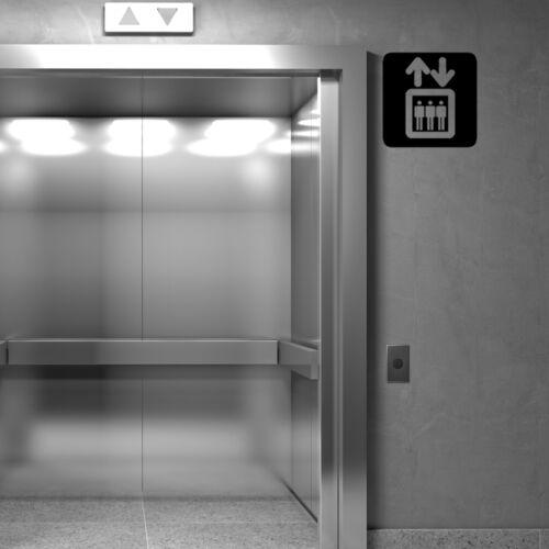 Public Ascenseur Up Down Signe Symbole Business Boutique Fenêtre Mur Decal Autocollant