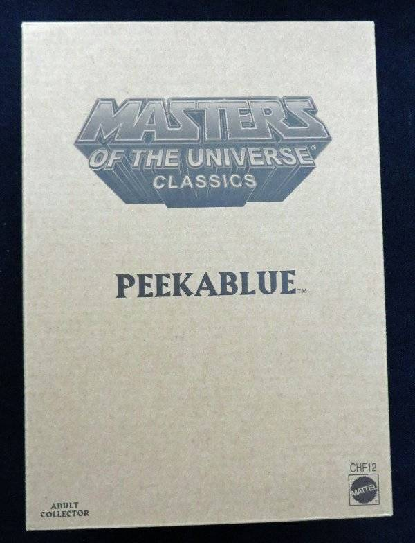 Masters Of The Universe Classics Peekabluee MIB NIP Matty Collector Club Eternia