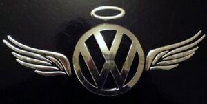 Angel-wings-amp-Halo-Badge-KIT-Silver-Chrome-3D-Fits-Around-Car-Logo-UK-Seller