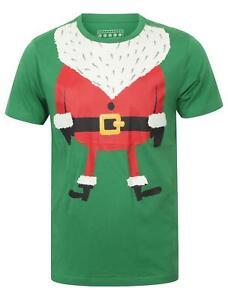 Seasons-Greeting-Mens-Santa-Body-Novelty-Christmas-Xmas-T-Shirt