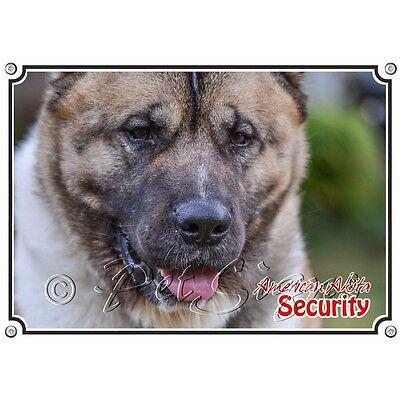 Begeistert Hundeschild American Akita - Haltbares Metallschild Warnschild