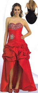 Red-2-In-1-Formal-Ball-Gown-Dress-Party-Prom-Evening-Gala-Pageant-SZ-8-New