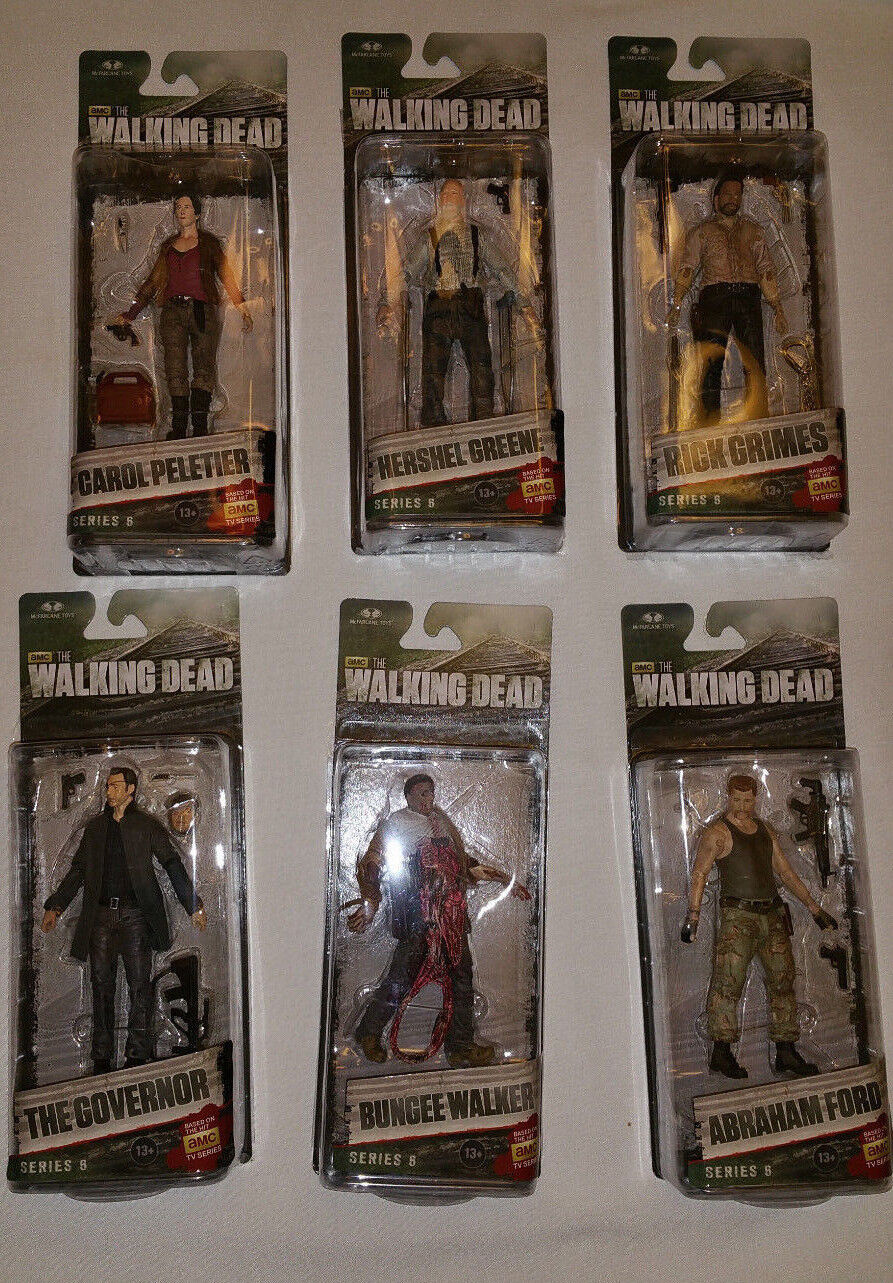 McFarlane Walking Dead TV Series 6 Factory Sealed Case