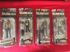 Walking Dead 4 Figure Lot McFarlane Toys-Rick Carl Michonne & Andrea