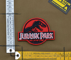 Ricamata-Embroidered-Patch-034-Jurassic-Park-034-with-VELCRO-brand-hook