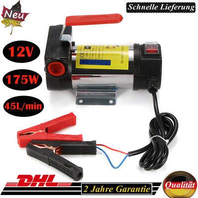 Dieselpumpe 12V 175W 45L//MIN Pumpe Heizölpumpe selbstansaugend Automatik Ölpumpe