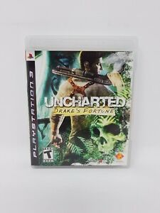 Uncharted-Drake-039-s-Fortune-Sony-PlayStation-3-2007-Complete-Tested-Works