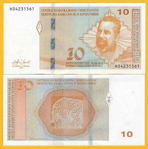 Bosnia-Herzegovina-10-Maraka-p-80-2019-UNC-Banknote