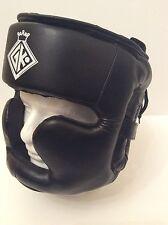 GK alta qualità in pelle BOXING HEAD GUARD, MMA Casco, Kick boxing, arti marziali