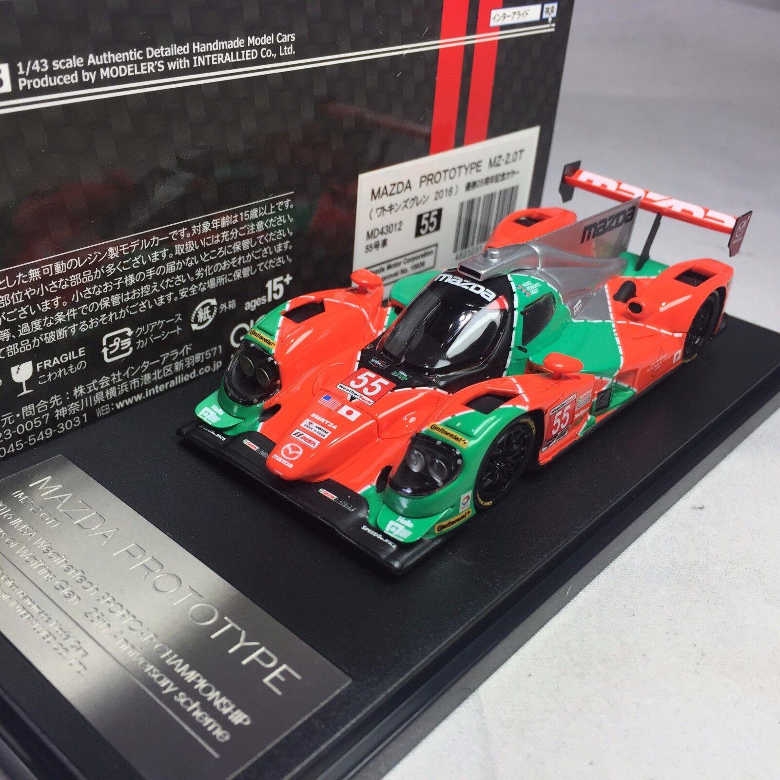 1/43 Hi-Story Modeler's Mazda Prototype MZ-2.0T 2016 IMSA Championship  55