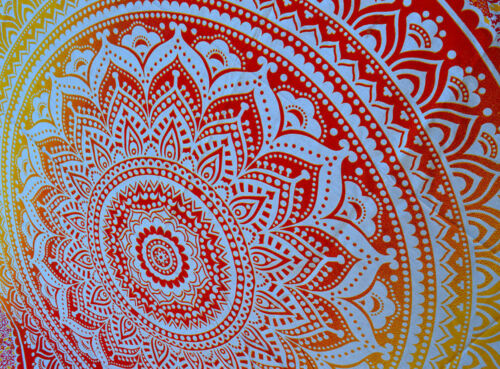 Indian Decor Mandala Tapestry Wall Hanging Hippie Throw Bohemian Ombre Bedspread