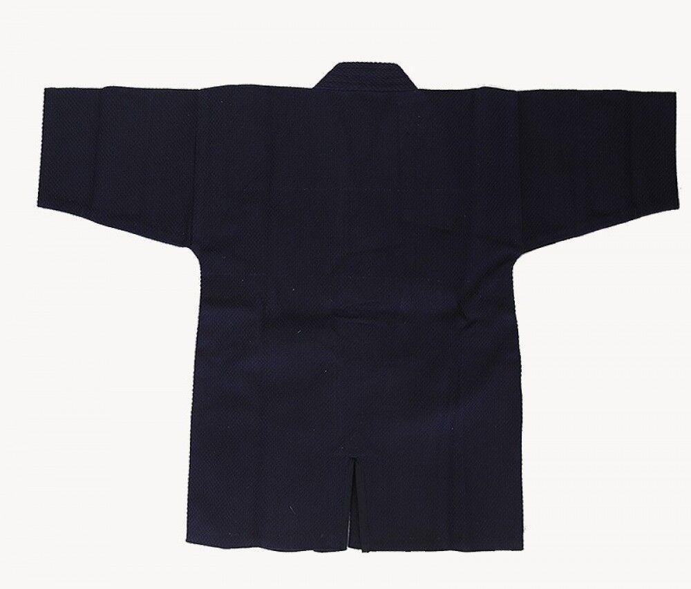 Giapponese Budoen Kendo Gi Kendogi Giacca Uniforme 100% Cotton Blu Scuro Japan