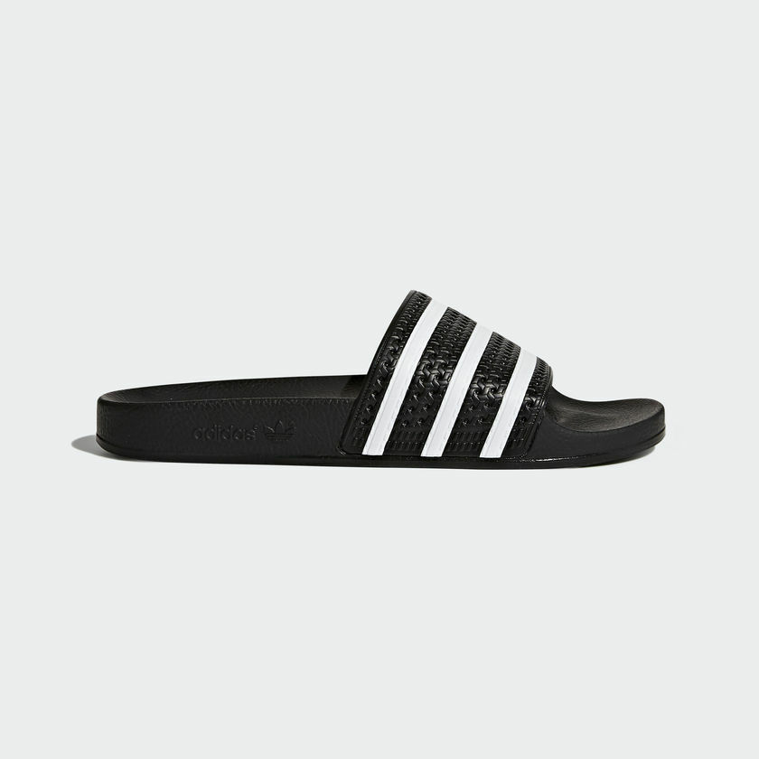 Adidas Originals Adilette Black White Slides 3-Stripes Made In Italy Men 280647 Cheap and beautiful fashion