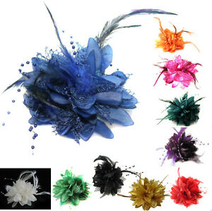 Flower-Feather-Bead-Corsage-Hair-Clips-Fascinator-Hairband-and-Pin