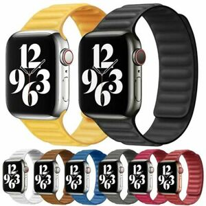 Leather-Link-Loop-Strap-For-Apple-Watch-Band-44mm-40mm-iWatch-series-6-SE-5-4-3