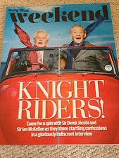 DEREK JACOBI & IAN MCKELLEN PHOTO INTERVIEW WEEKEND MAGAZINE 2015 MICK HUCKNALL