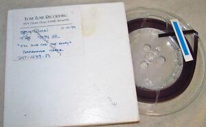 """JESSY DIXON Gospel Give God 7"""" Reel To Reel TIME ZONE Master/Studio Tape J379"""