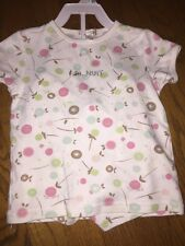 PETIT LEM French Nuit Signature PAJAMA TOP NIGHT Polka Dot Circle Girls Sz 4T