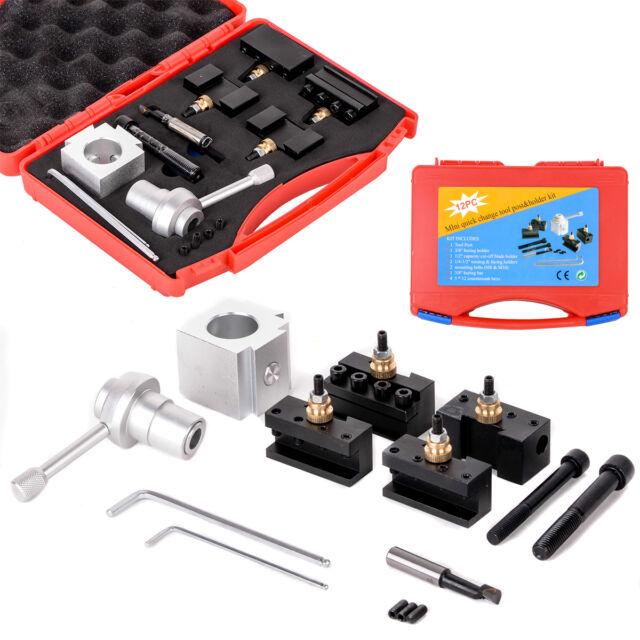 "Quick Change Tool Post Holder Kit Set for 7 x10,12,14"" Lathes Multifix set Tool"