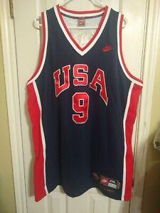 Michael-Jordan-Usa-Olympics-Jersey-Men-XXL-Nike-NBA-Sewn-9-Vtg-Dream-Team-1984