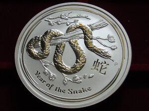 Australia-2013-5oz-Silver-8-Lunar-Series-Year-of-Snake-BU-In-Capsule