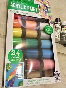Acrylic-Paints-28-Colors-Quick-Dry-Bright-Permanent-Flat-Enamel-Gloss
