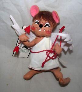 ANNALEE-Macy-039-s-Cupid-Cherub-Mouse-Figure-Doll-Heart-Valentine-039-s-Day-Home-Decor