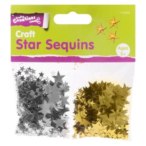 Artesanía de 2000 estrellas de lentejuelas de oro y plata lentejuelas estrella Aprox 5 X 400 Pack