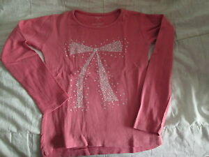 Tee-shirt-saumon-a-motif-ML-T8ans-marque-In-Extenso-en-TBE