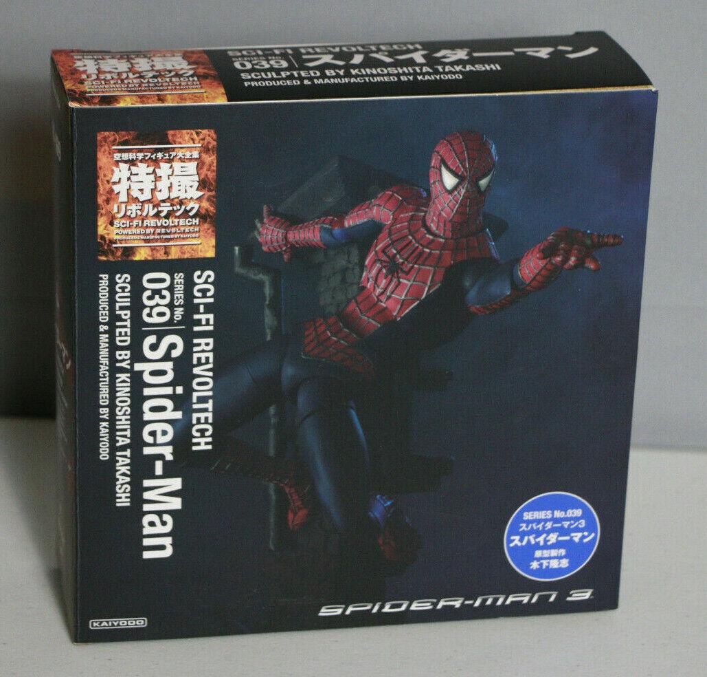 Kayodo Sci-fi Revoltech Series No. 039 Spider-Man esculpida por Kinoshita Takashi