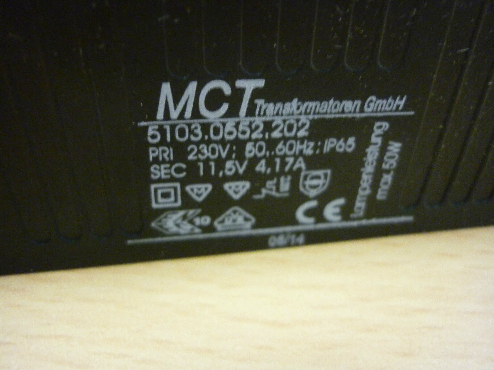 MCT vergossener Sicherheitstransformator Trafo 5103.0552.202 11,5V IP65 max 50W