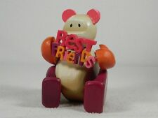"Pozy Bears ""Sentiments"" Best Friends - Bear With Sign Figurine  #321002  NIB"