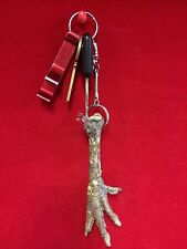 ~Taxidermy dark Chicken Foot Key Chain///keychain-talisman-voodoo-witch-farmer